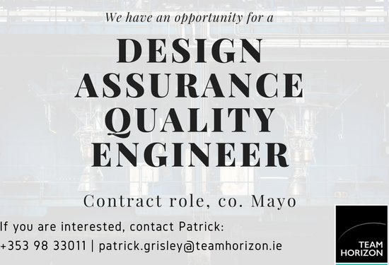 Horizon On Twitter Team Horizon Is Seeking A Design Assurance Quality Engineer For More Contact Patrick At 353 98 33011 Patrick Grisley Teamhorizon Ie Https T Co Fehwxyegpo