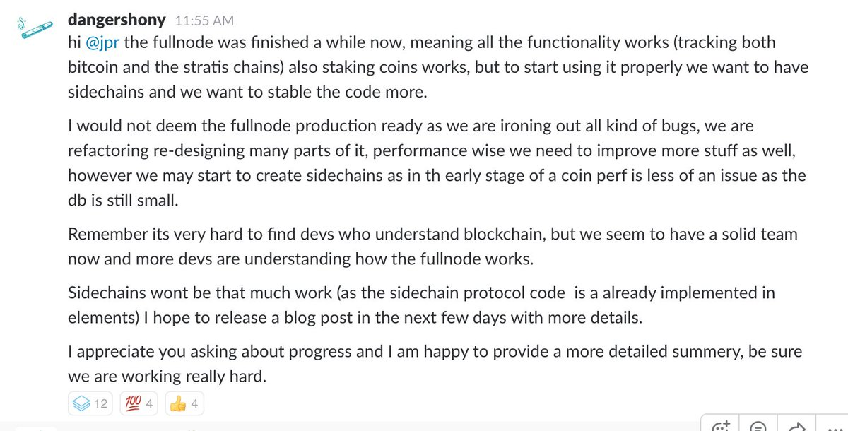 A small summary from @dangershony @stratisplatform #bitcoin #stratis $STRAT $BTC #blockchain #csharp #dotnetcore #fintech #development<br>http://pic.twitter.com/YKxacI3N2O