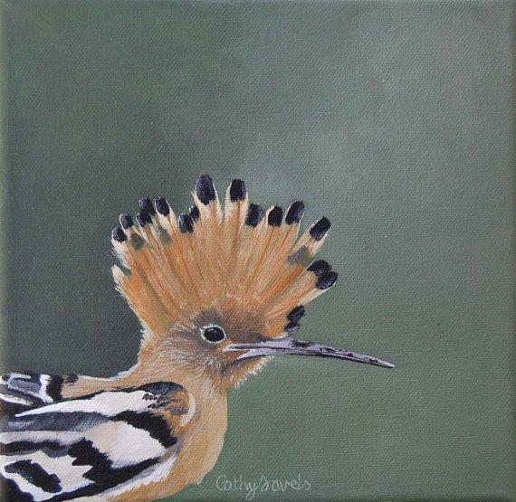 Hoopoe Bird Painting  French Garden Wildlife  http:// dld.bz/fj5WQ  &nbsp;   #birds #wildlife #france #art #painting #gift<br>http://pic.twitter.com/qmukULE3v5