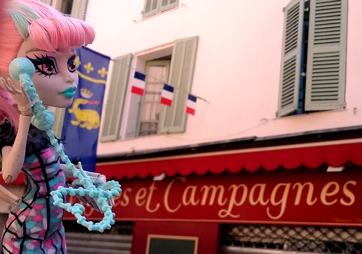 We&#39;re currently in France,visiting great places with some help from the local ghouls, they are so kind! @MonsterHigh #SummerVacation #France <br>http://pic.twitter.com/FVKsyiaWhC