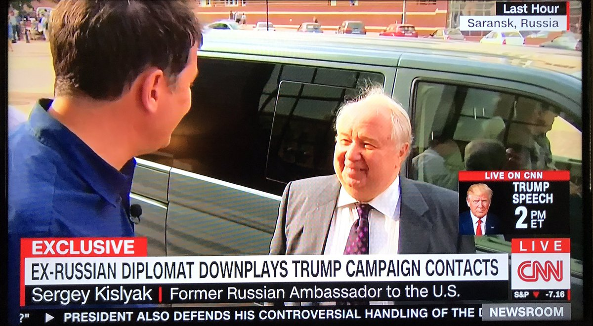 Fmr #RussianAmbassador Kislyak won&#39;t answer &quot;the American interlocutors&quot; if he discussed sanctions w/Team Trump or if #Trump gave secrets<br>http://pic.twitter.com/kBiEAh3oeF