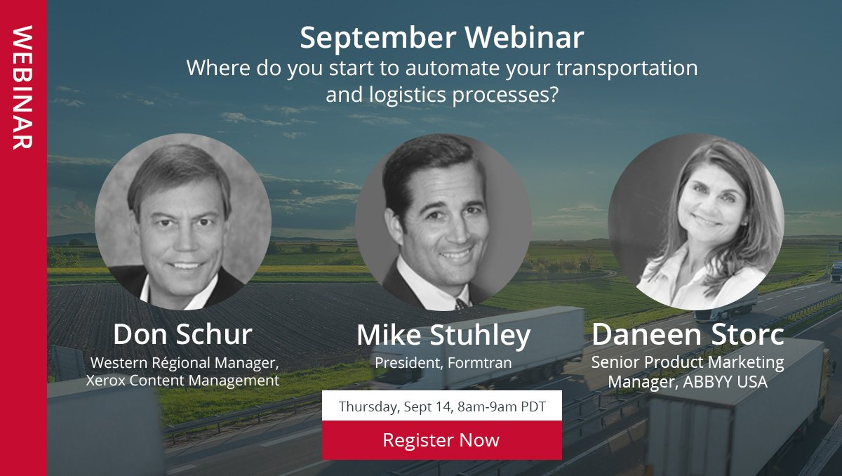 [Free Webinar] Improve productivity and reduce cost by #automating paper trails to streamline your #Logistics needs.  https:// hubs.ly/H08rbsP0  &nbsp;  <br>http://pic.twitter.com/hIRzIEH94D