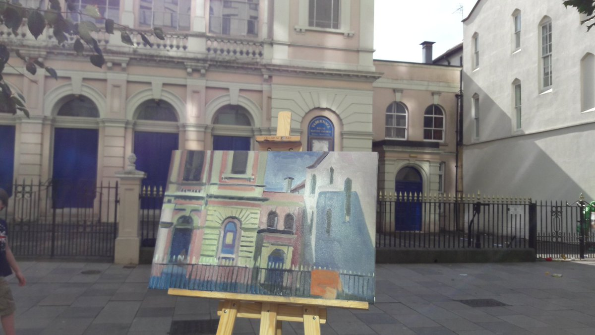 Tabernacle church #Cardiff by Sebastian Aplin finished in a day #loveartlovecardiff @Welsh_art @VisitMillLane @VisitCardiff<br>http://pic.twitter.com/D2xxenrIBE