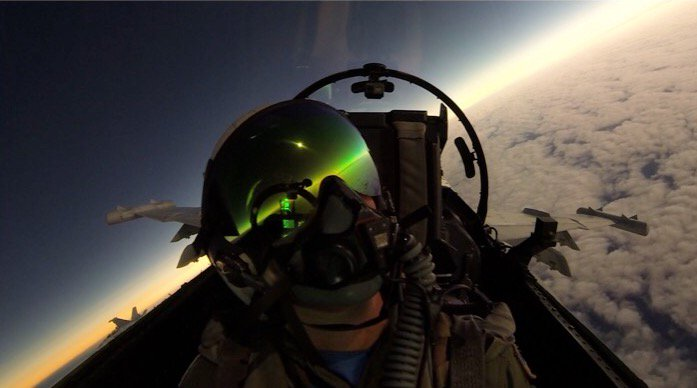 """Check out another great shot provided by the """"Zappers"""" of #VAQ130 during the #eclipse2017 #eclipseday #selfie https://t.co/h0LqyLhSjc"""
