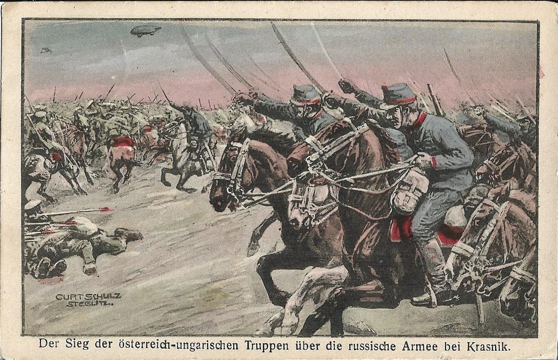 The Austro-Hungarian victory over the Russians at Kraśnik - A battle which began on this day 1914 (PC from my coll.)  #WW1 #FWW #Russia #OTD<br>http://pic.twitter.com/tIKL1aVusb