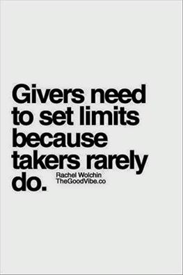 &quot;GIVERS NEED TO SET LIMITS... BECAUSE TAKERS NEVER WILL&quot;  #quote #confidence #life #leadership #inspiration #wisdom<br>http://pic.twitter.com/Zp2lNFDXBe