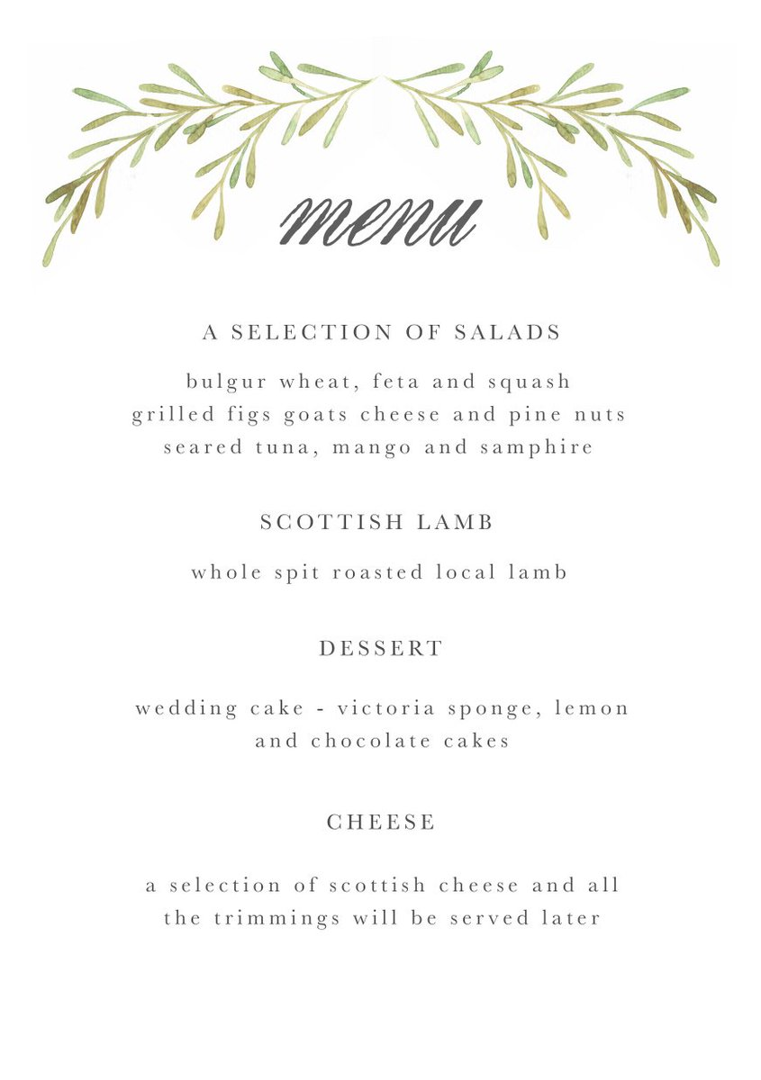 Nancy Straughan On Twitter I M Designing Our Wedding Menu Etc Today Having Trouble Deciding Between These Two Options Think Leaning Towards