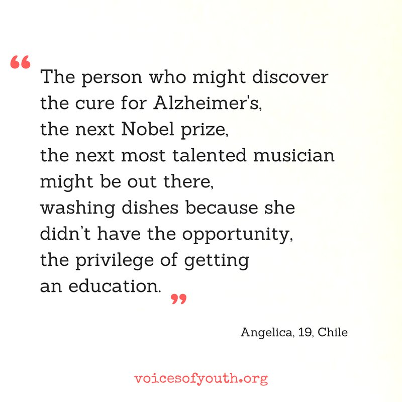 #Education for all ✏️ More at @voicesofyouth, our channel by youth for youth