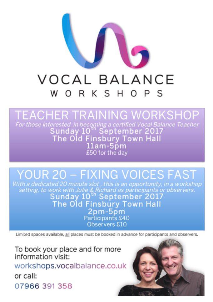 Don&#39;t forget our upcoming workshop on Sunday 10th September -  http:// vocalbalanceuk.eventbrite.com  &nbsp;   #singing #workshop #london<br>http://pic.twitter.com/W3YckBgOGV
