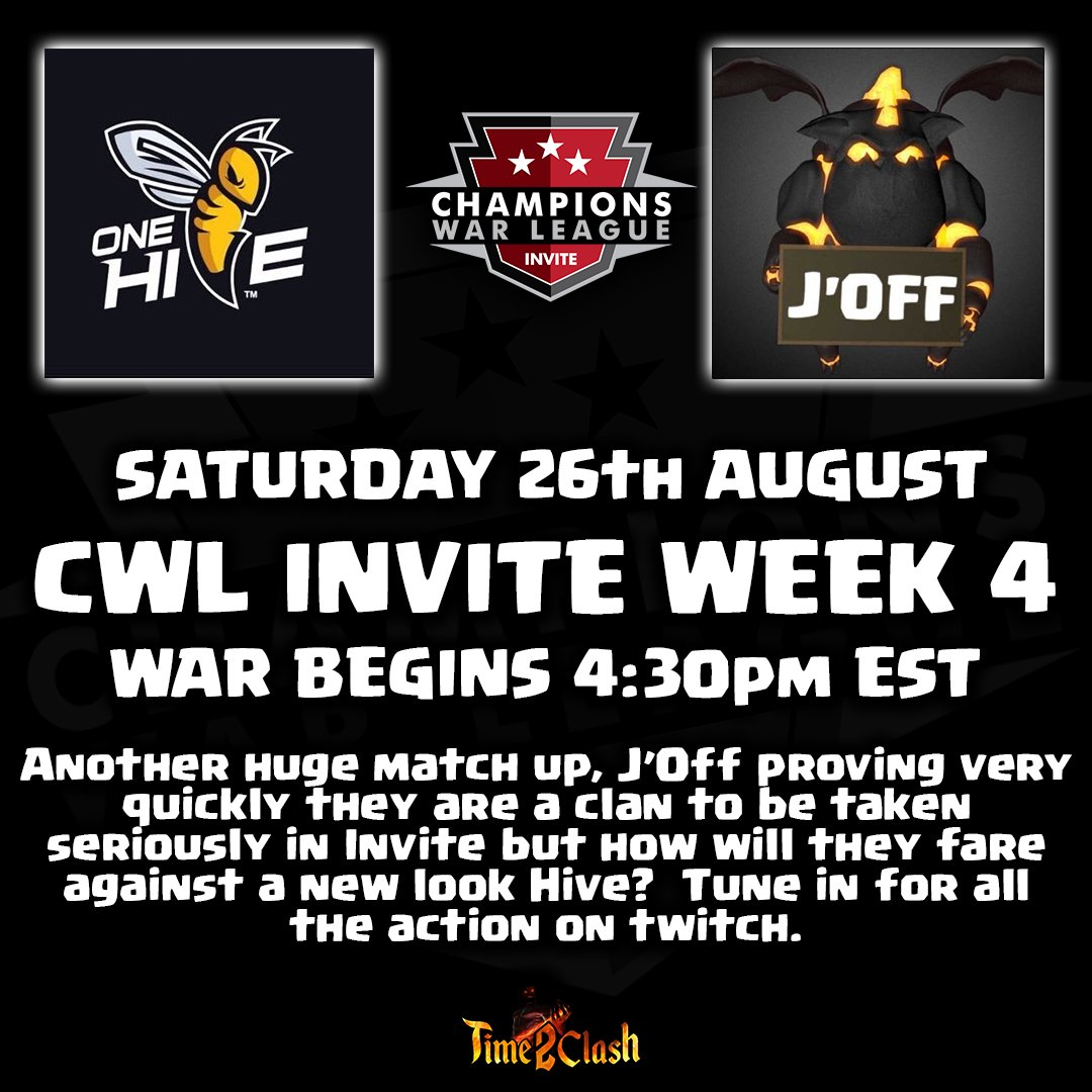 Adam On Twitter Cwl Invite Week 4 Both Clans 2 1 This Should Be A