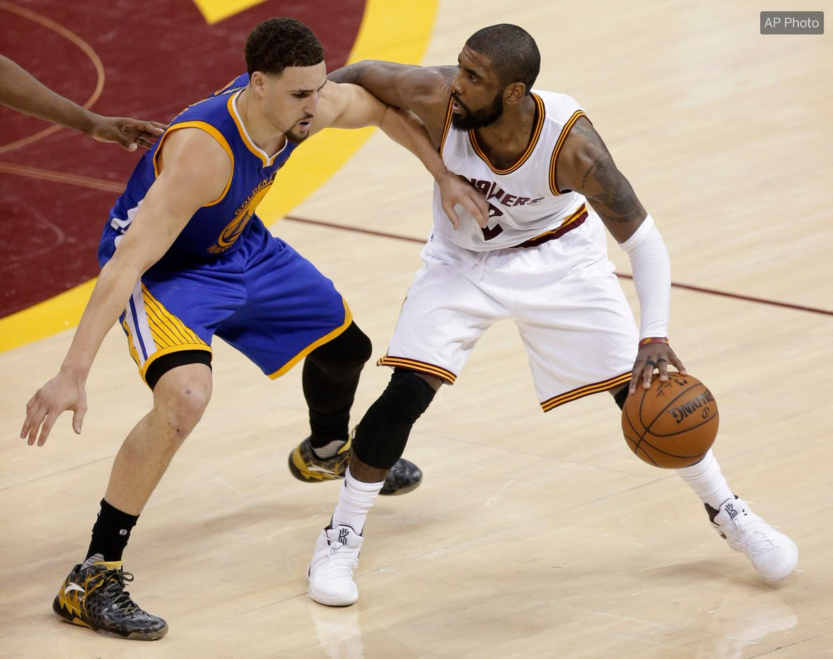 According to @MarcJSpearsESPN, the Cavs GM called the Warriors about Kyrie for Klay. 👀  The were 'uninterested.'