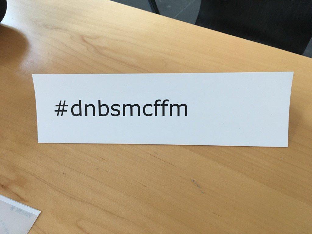 #Hashtag nicht vergessen. #dnbsmcffm @DNB_Aktuelles #smcffm https://t.co/A3dh5BozfT