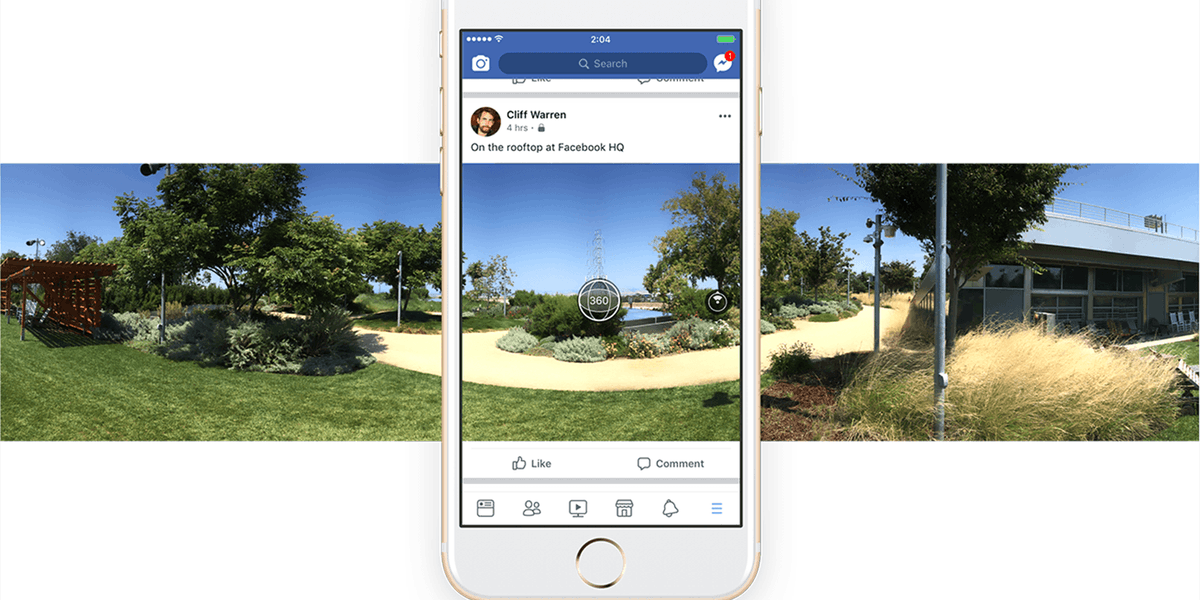 Facebook users can now take 360 photos from within the app https://t.co/1mEzN5P7p2
