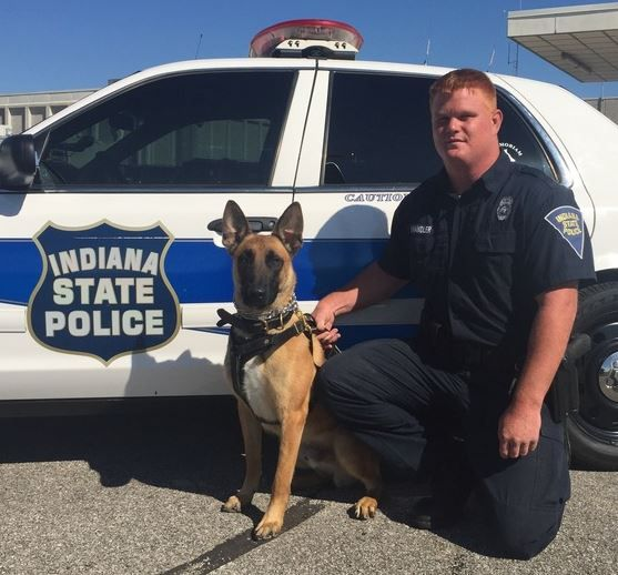 ISP Evansville district introduced a new K-9. @Kate14News has a look at the story >>> https://t.co/GFjuDdrW6i