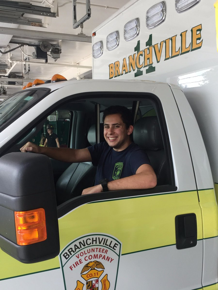 branchville vol fire on twitter congratulations to our newest ambulance driver josh edery