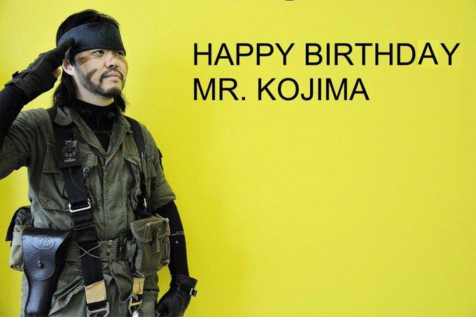 happy birthday Mr.KOJIMA