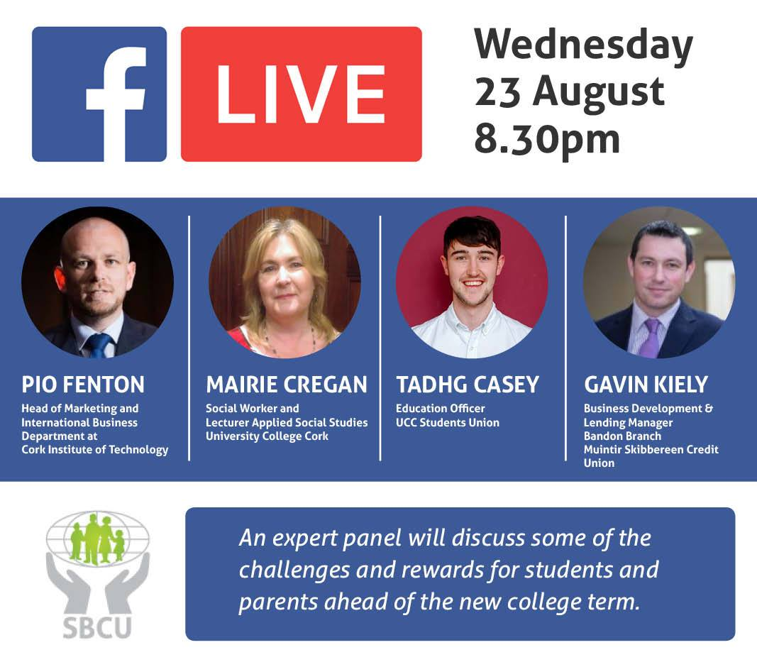 TONIGHT 8:30pm: @PioFenton on Facebook Live talk about the challenges and rewards for new students #LeavingCert #CAO  https://www. facebook.com/SkibbereenCU  &nbsp;  <br>http://pic.twitter.com/byT2Id8OJX