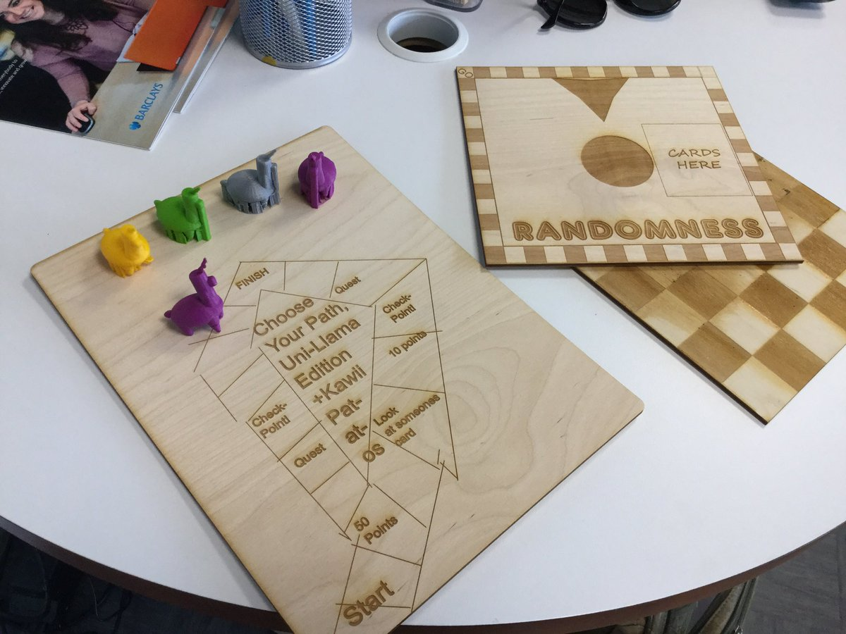 Our friends @MakerClub are developing board games #create #make #play #friends #prototype @TrotecUK @UltimakerCREATE<br>http://pic.twitter.com/UDvavSB7aG