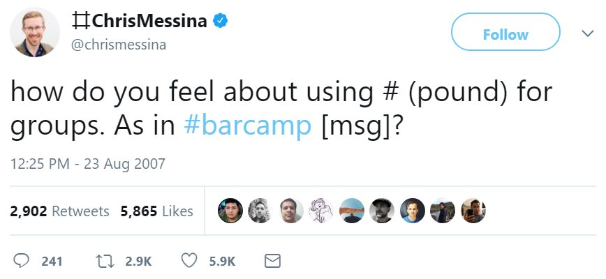 10 years ago today, the very first hashtag was tweeted. #Hashtag10