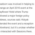 So this guy Dearborn. He helped set up...the Mayflower meeting on foreign policy with Kislyak? Huh. Where have I heard the name?
