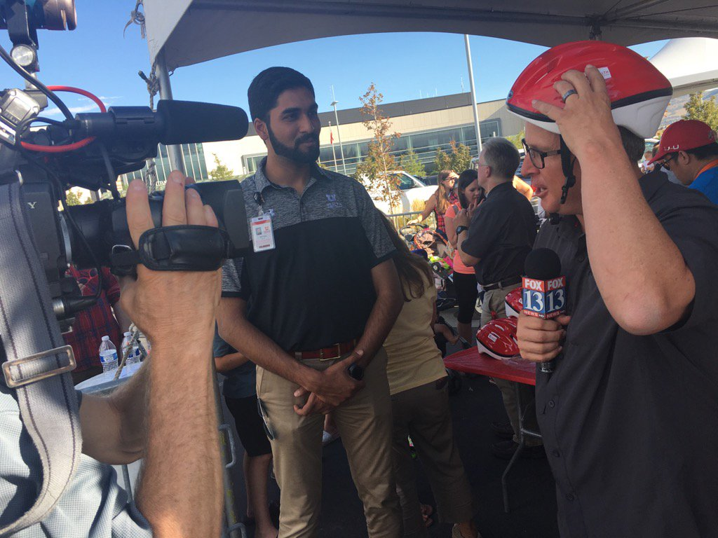 @NomanKhan_NK is live on @fox13 telling us about bicycle helmet safety @BeWellUtah @UofUHealth #wellness #safety<br>http://pic.twitter.com/wvObaiXMYT