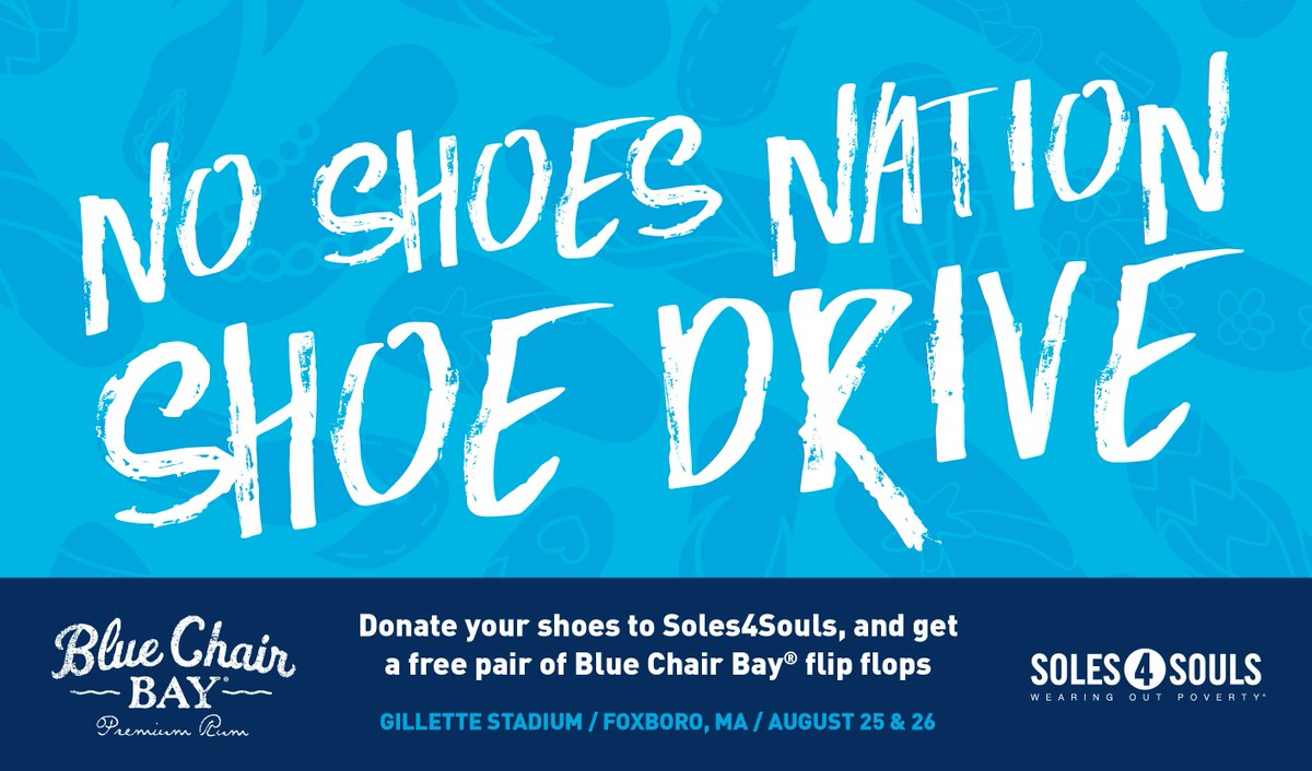 716109483c2465 NSN Shoe Drive donors at  kennychesney s weekend shows get free  BlueChairBayRum  flip flops!