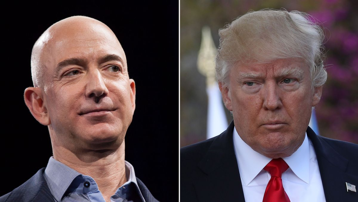 Why is Trump so obsessed with Jeff Bezos? https://t.co/kgUIdp7mce