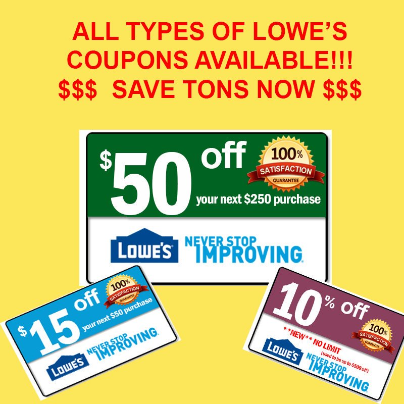 photo regarding Lowes 50 Off 250 Printable Coupon named Lowes Discount coupons (@lowes_discount codes4u) Twitter