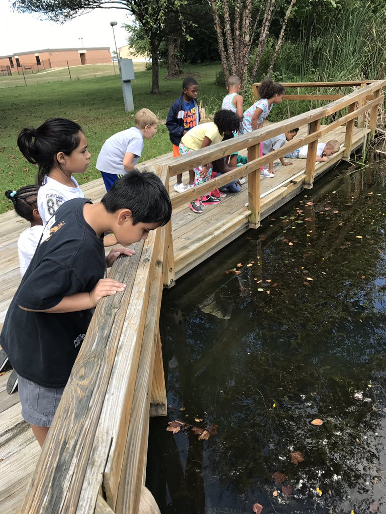 Exploring our beautiful outdoor lab - Mrs. Horan&#39;s Second grader at IC!  #ic1718 #horan <br>http://pic.twitter.com/dNzScpP56s