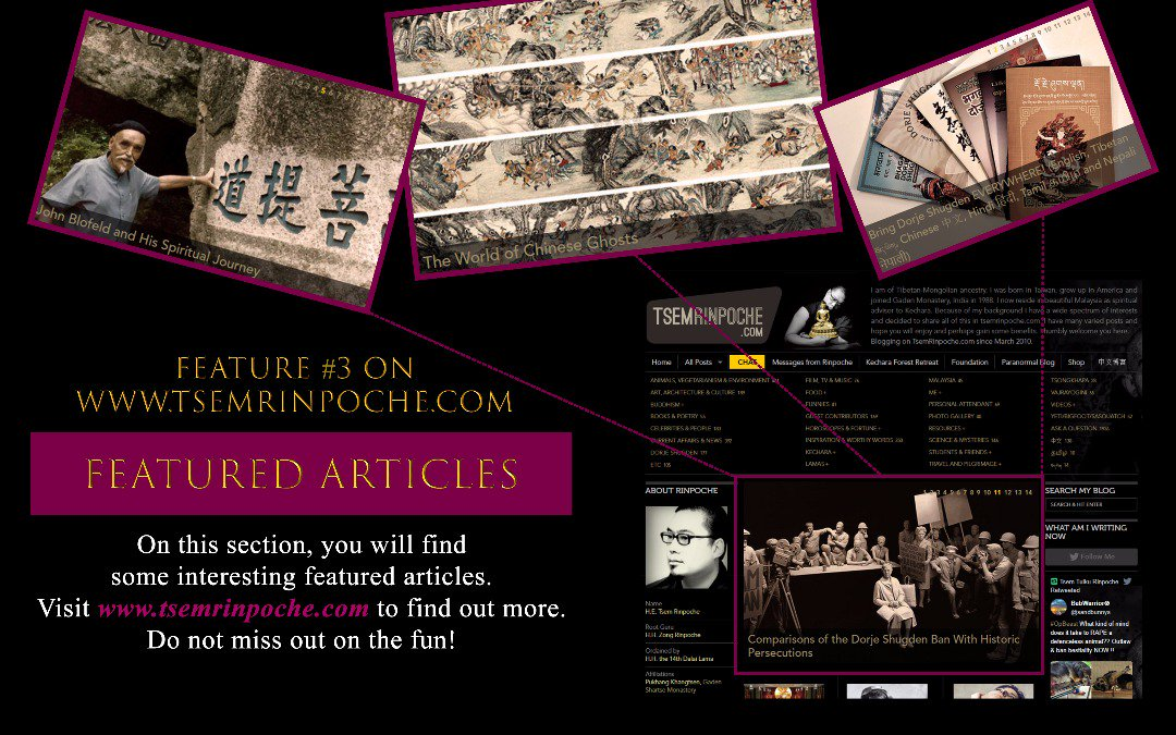 #Featured articles on #Buddhism and more!  http:// Tsemrinpoche.com  &nbsp;    #News #Buddha #Tibet #Tibetan #Spirituality #Namaste #Interesting<br>http://pic.twitter.com/Pv5n53quc5