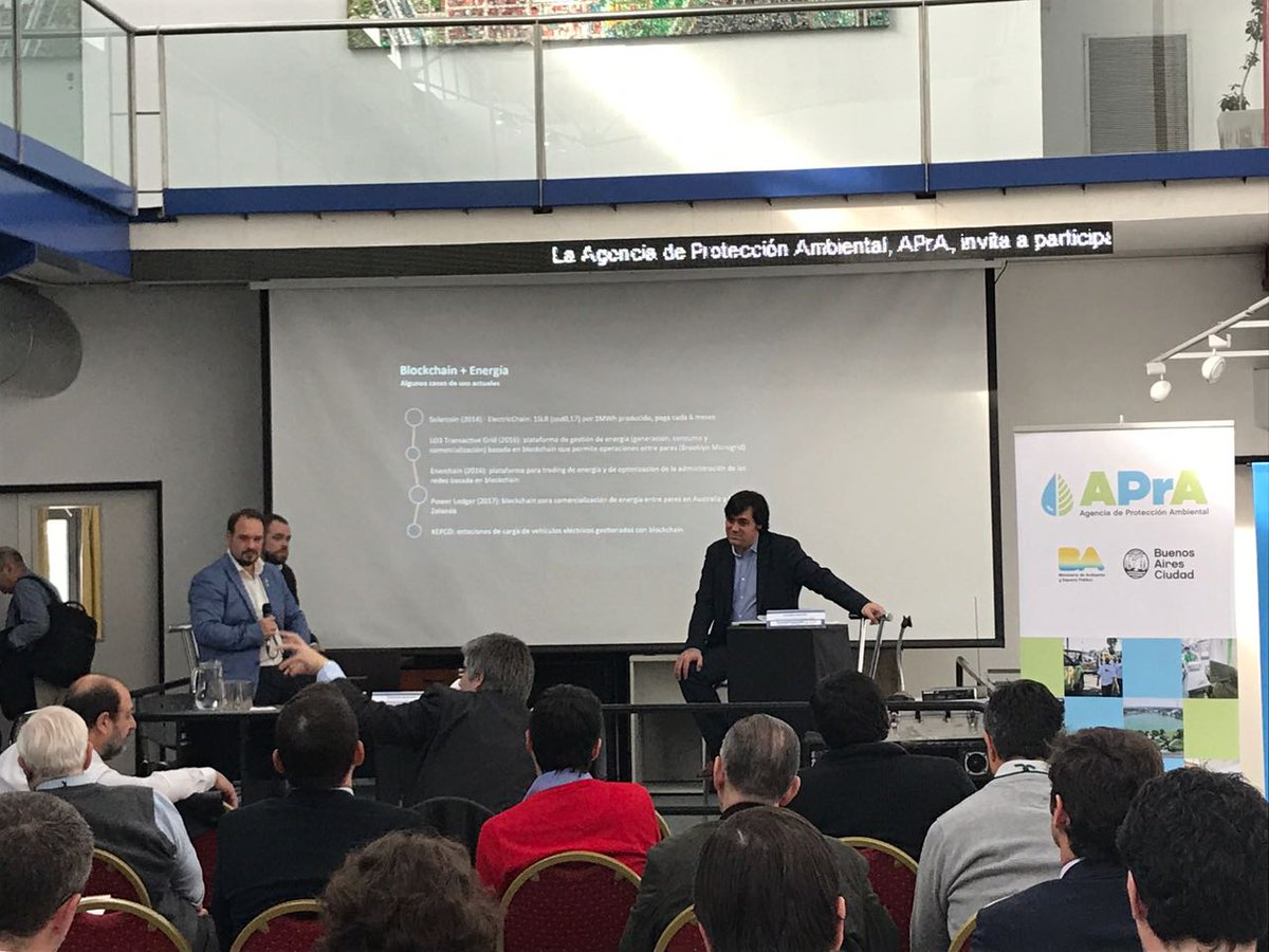 Our MP @sebasincha talking about smart grids &amp; #blockchain w @dieguito, @RSKsmart Founder, a real expert!! Thanks @DatosMINEM #energy<br>http://pic.twitter.com/9prQxDcJSE