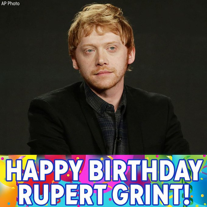 Happy birthday to Harry Potter star Rupert Grint!