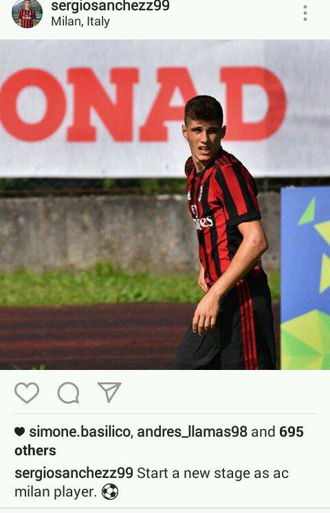 New Milan #Primavera attacker Sergio Sanchez Gioya (from Real Madrid) #weareacmilan #ACMilan
