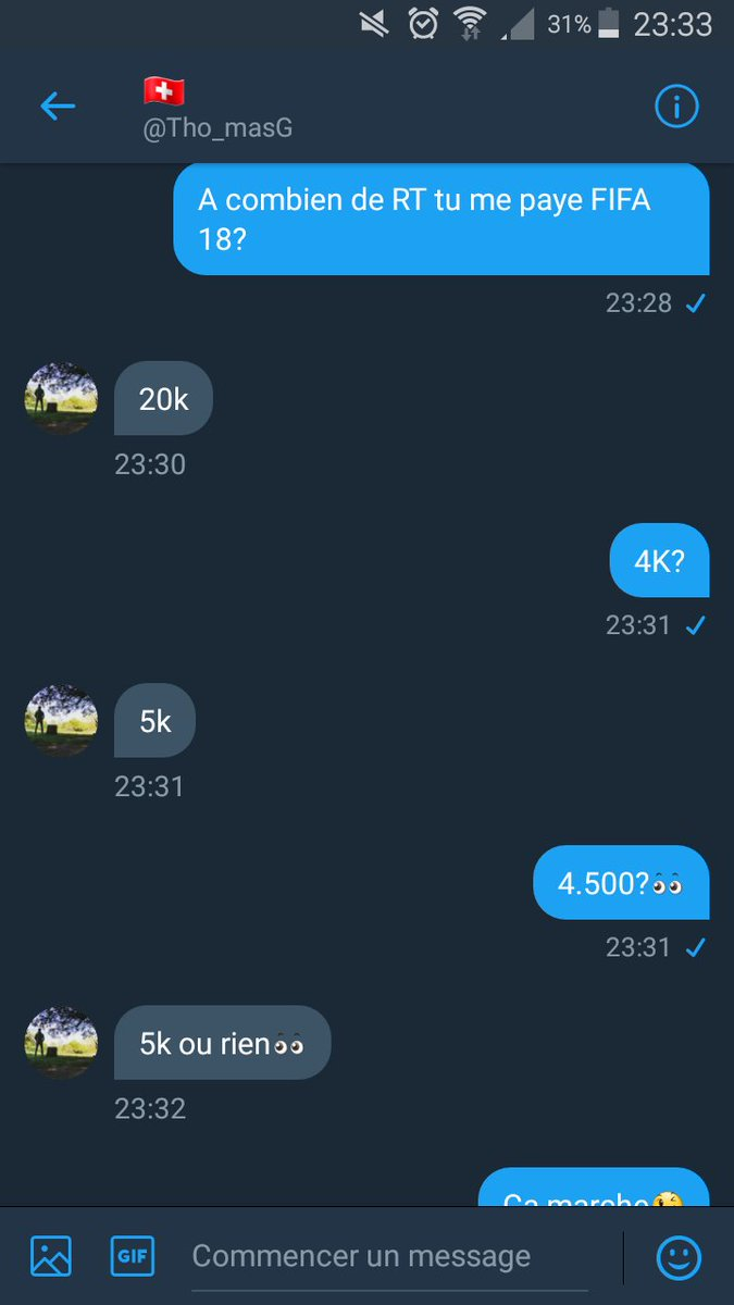 A 5K RT, @Tho_masG m'offre FIFA18. RT svp���