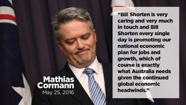 Before @MathiasCormann thought Bill Shor...