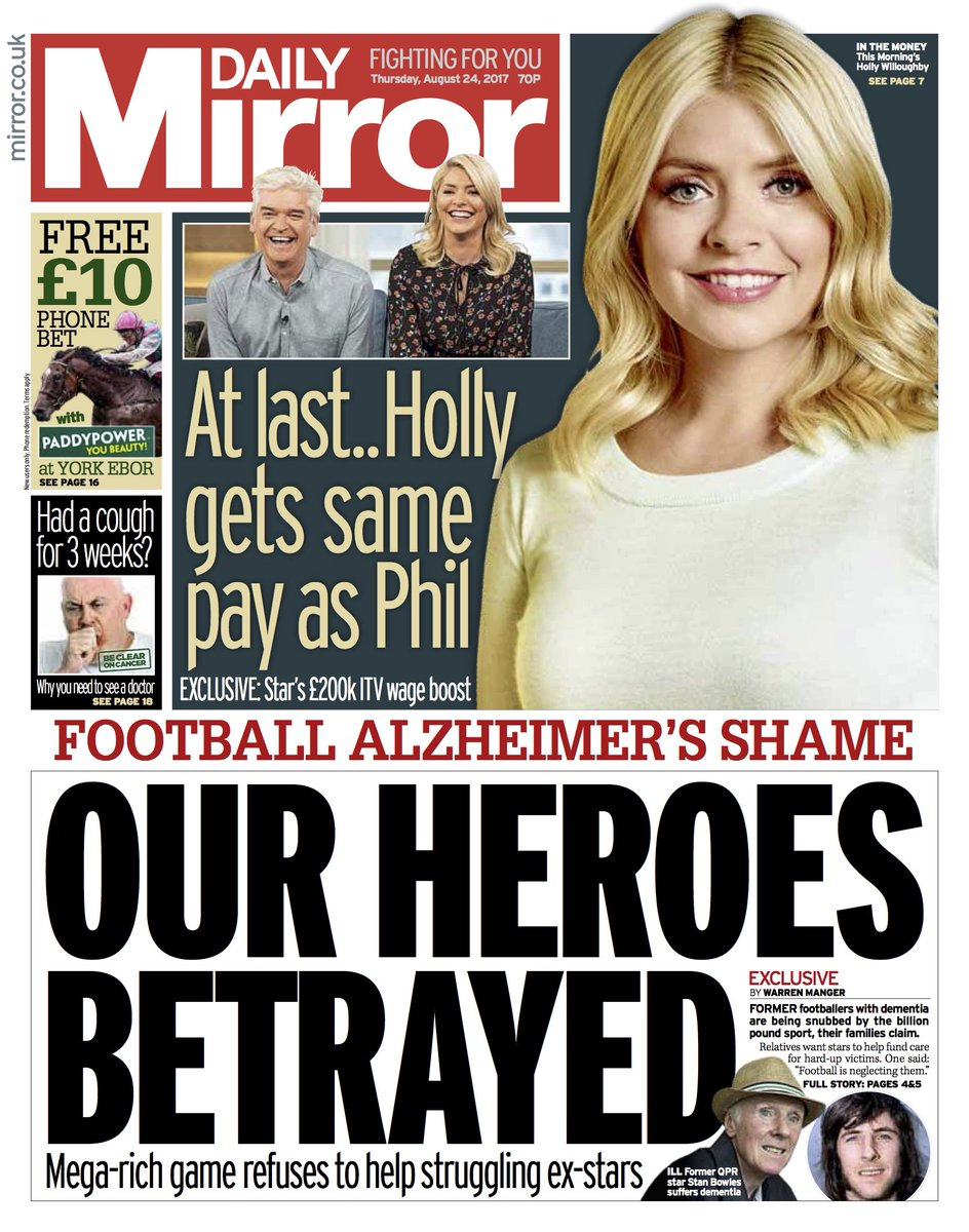 Tomorrow's front page: Our heroes betrayed #tomorrowspaperstoday https://t.co/bShtIhvvVY