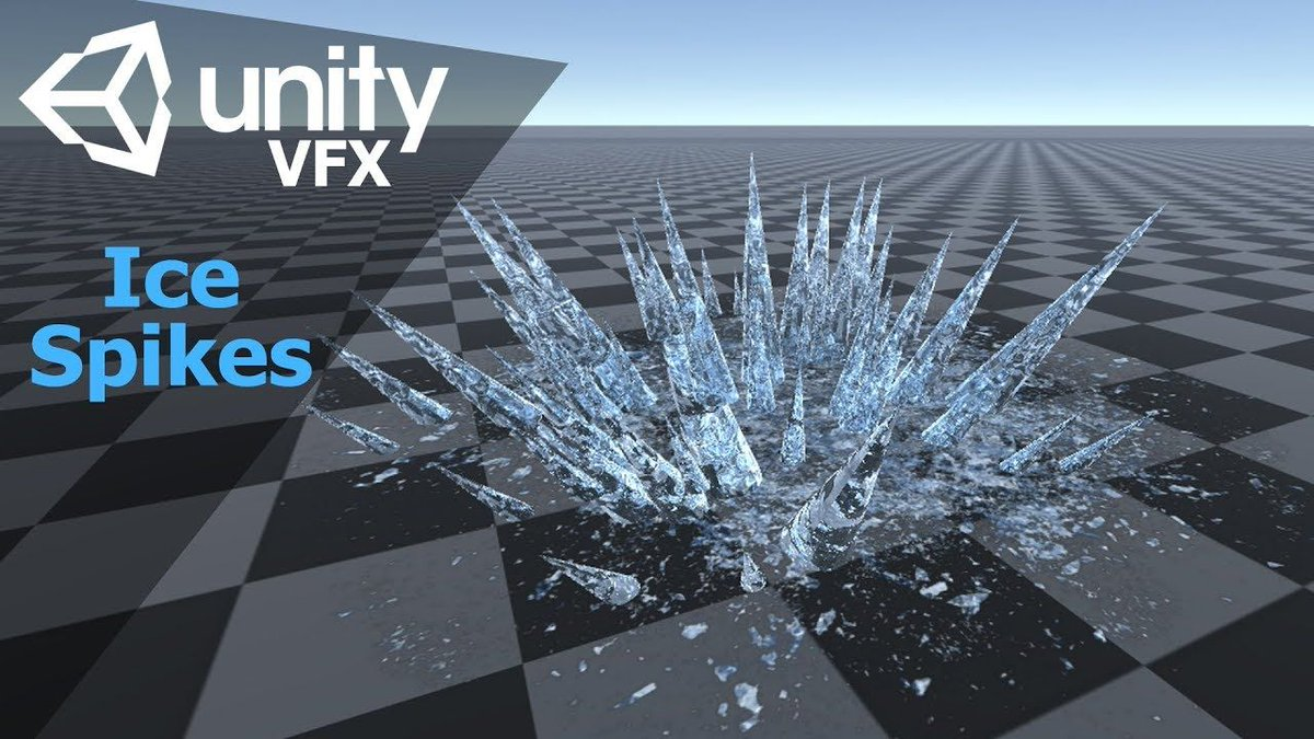 Game effect tutorial - Ice Spikes | Unity3d  https:// buff.ly/2w0XRKd  &nbsp;   #gamedev <br>http://pic.twitter.com/VfEO6FbP1J