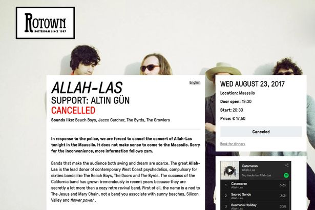 American rock band named after Allah has gig cancelled after police stop van near venue https://t.co/7yIPXRopJI
