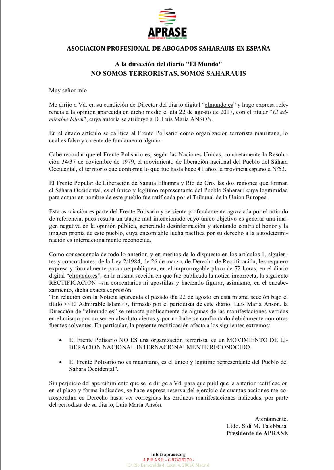 agosto 2017 – Página 6 – La actualidad #saharaui HOY