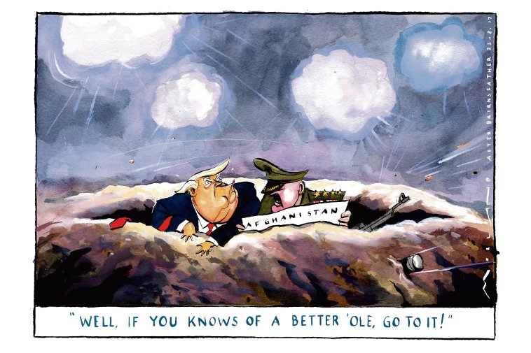 Mr Trump has become the third commander-in-chief to commit soldiers to America's longest war (image @mortenmorland) https://t.co/dpgDUejxeZ