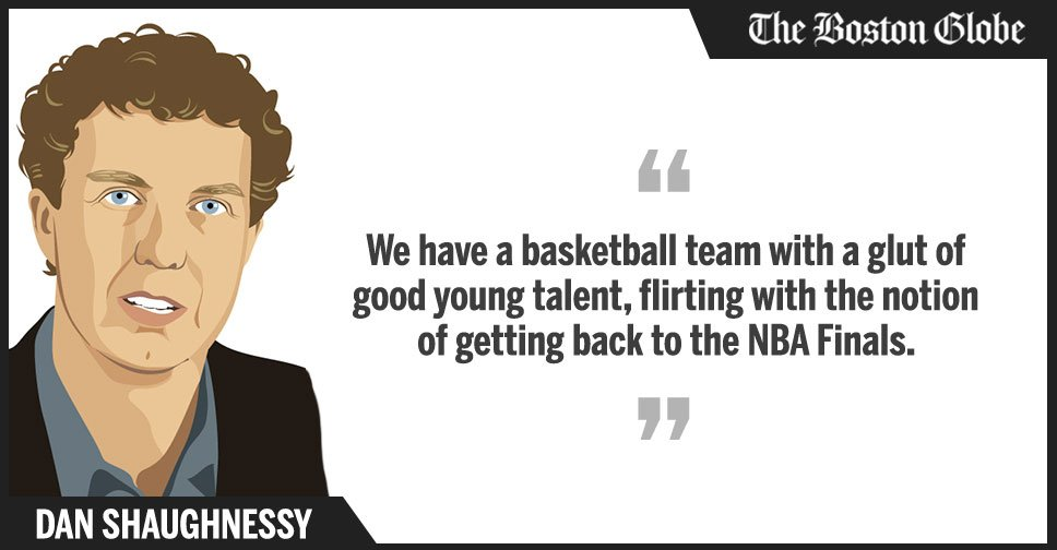 .@Dan_Shaughnessy: The #Celtics finally have some of the pieces needed to be taken seriously at playoff time. https://t.co/dHdKscyz3u