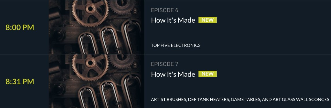 Mark your 🗓️ : #HowItsMade is on Sunday this week.