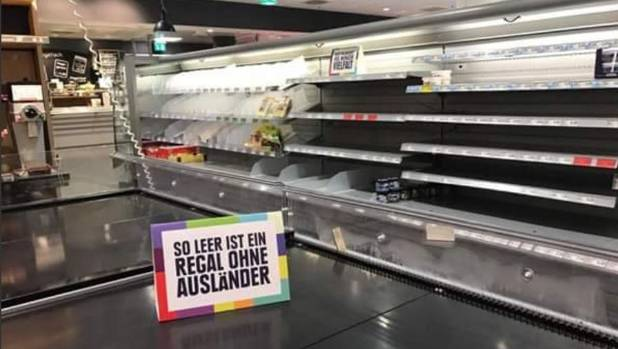 German supermarket removes foreign products to make a point about racism https://t.co/CxKBh43TjL