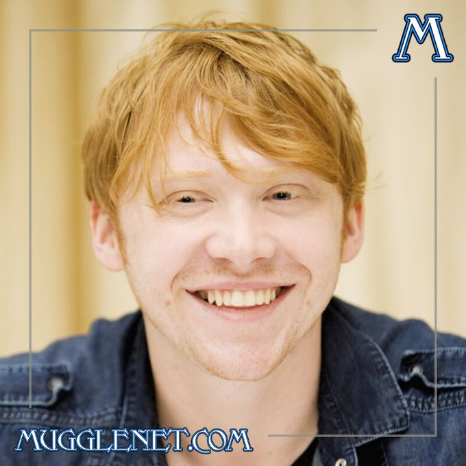 Happy birthday to the amazing Rupert Grint, who of course played Ron Weasley in the films!