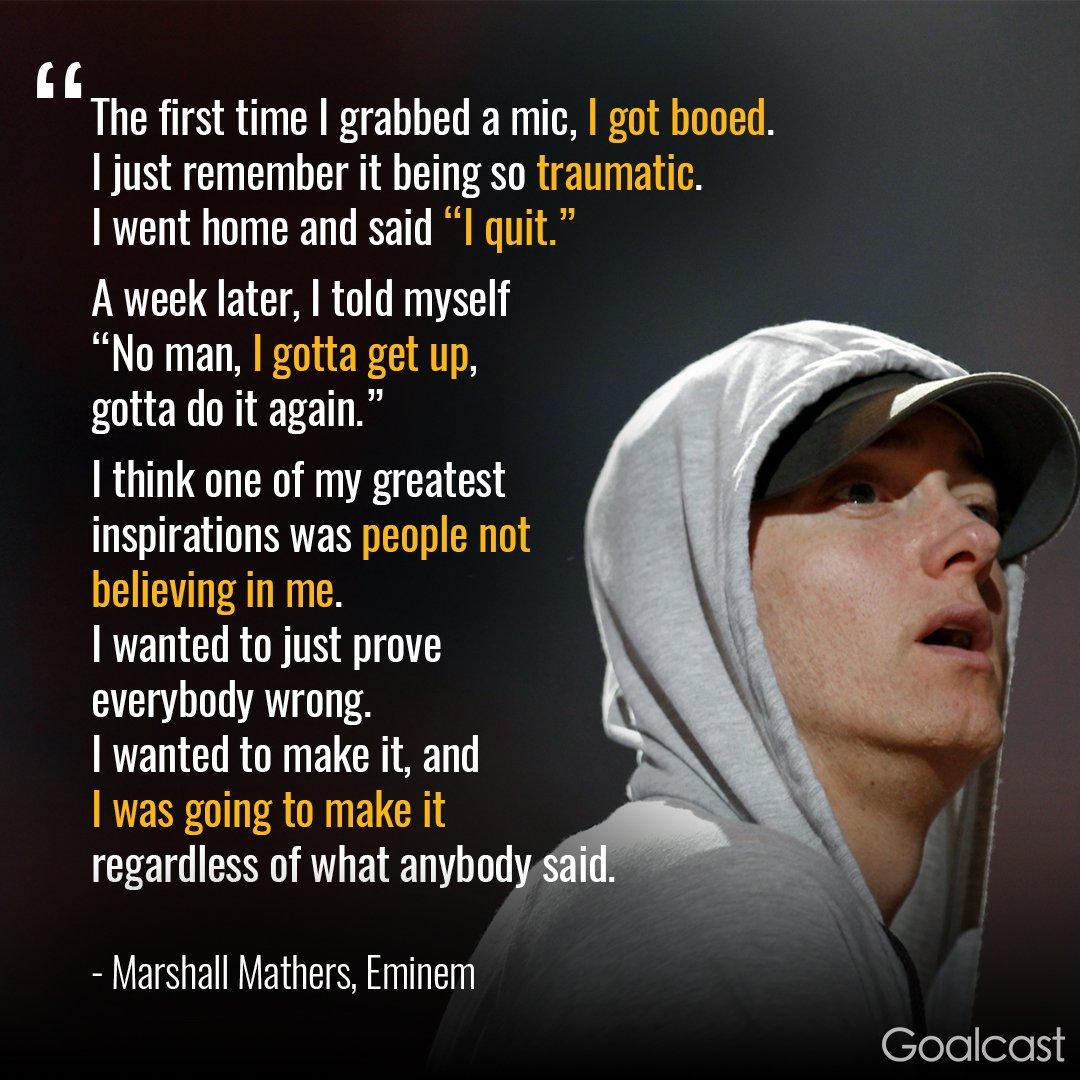 "Quotes Eminem: Goalcast On Twitter: ""When Eminem Almost Gave Up"