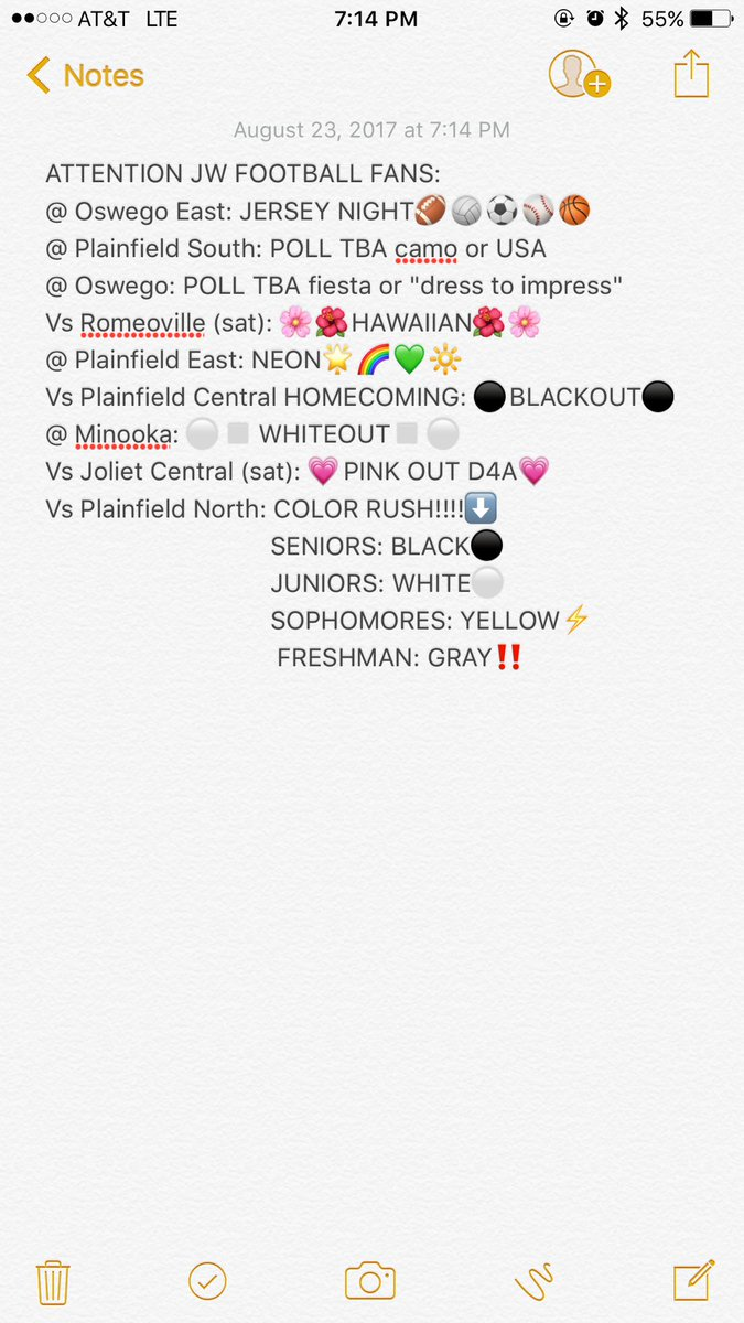 ATTENTION FOOTBALL FANS!!! OUR THEMES ARE SET FOR THIS YEAR!!!!! We will see you all on Friday #WeWill #TOI @JWestFootball<br>http://pic.twitter.com/399q2c8Ezp
