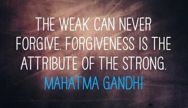 Forgiveness is the province of the strong. #mindfulness #wellness <br>http://pic.twitter.com/nFJkDJcEjN