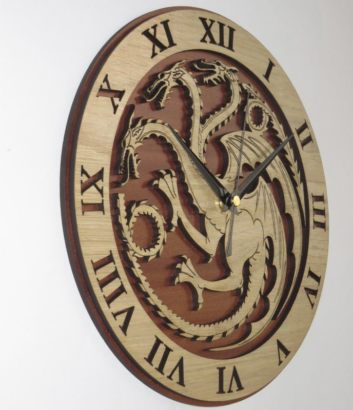 Handmade #Targaryen clock in wood #GameOfThrones  #GoT #GiftsIdeas #ChristmasGift -  https://www. etsy.com/listing/235648 563/targaryen-wood-clock-game-of-thrones?ref=shop_home_active_1 &nbsp; … <br>http://pic.twitter.com/49IeuI2w2E