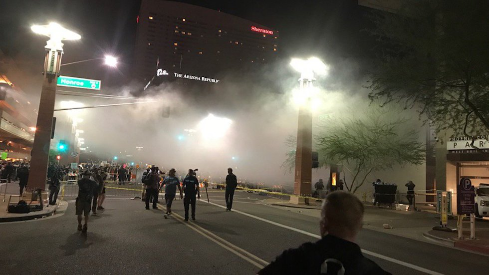 Arizona ACLU demands investigation into police force against protestors after Trump rally https://t.co/hKaxTIR3hZ