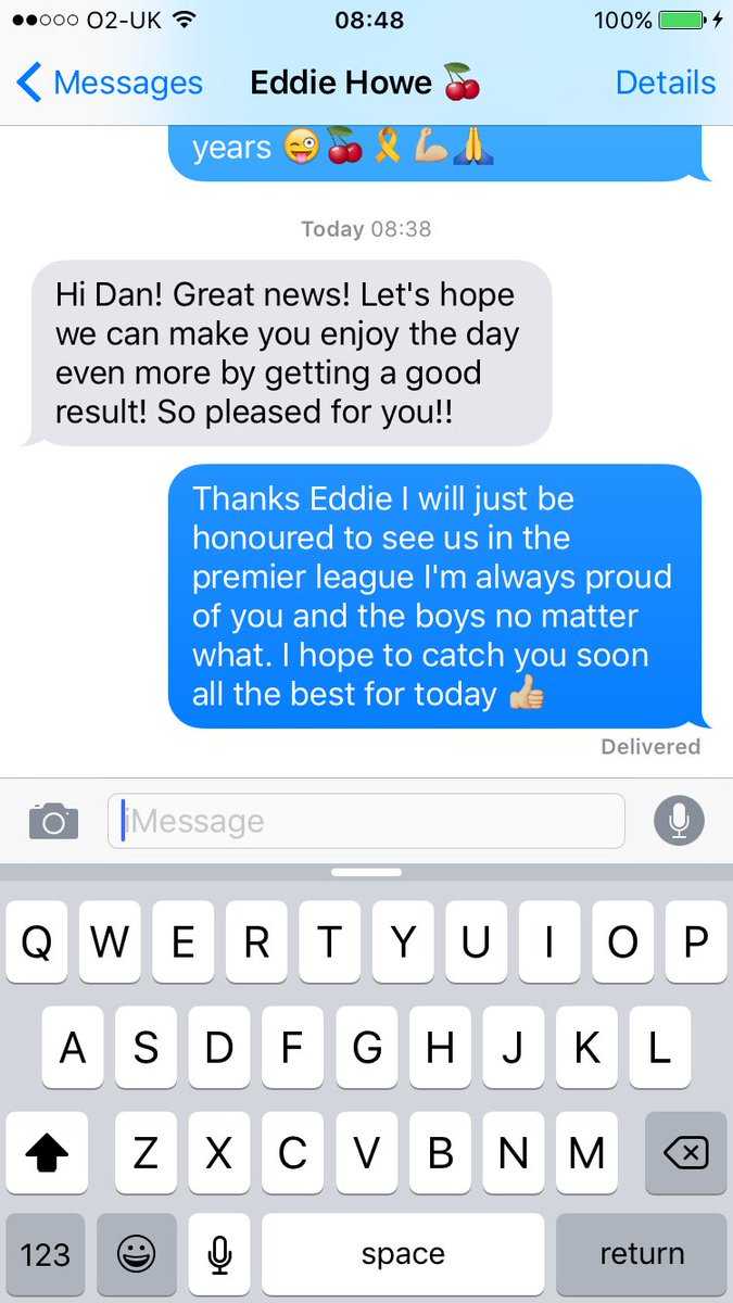 Nice morning txt from the boss even telling me hes proud and to enjoy today. Let&#39;s hope for a good day  #afcb <br>http://pic.twitter.com/Sr5wLHvXjQ